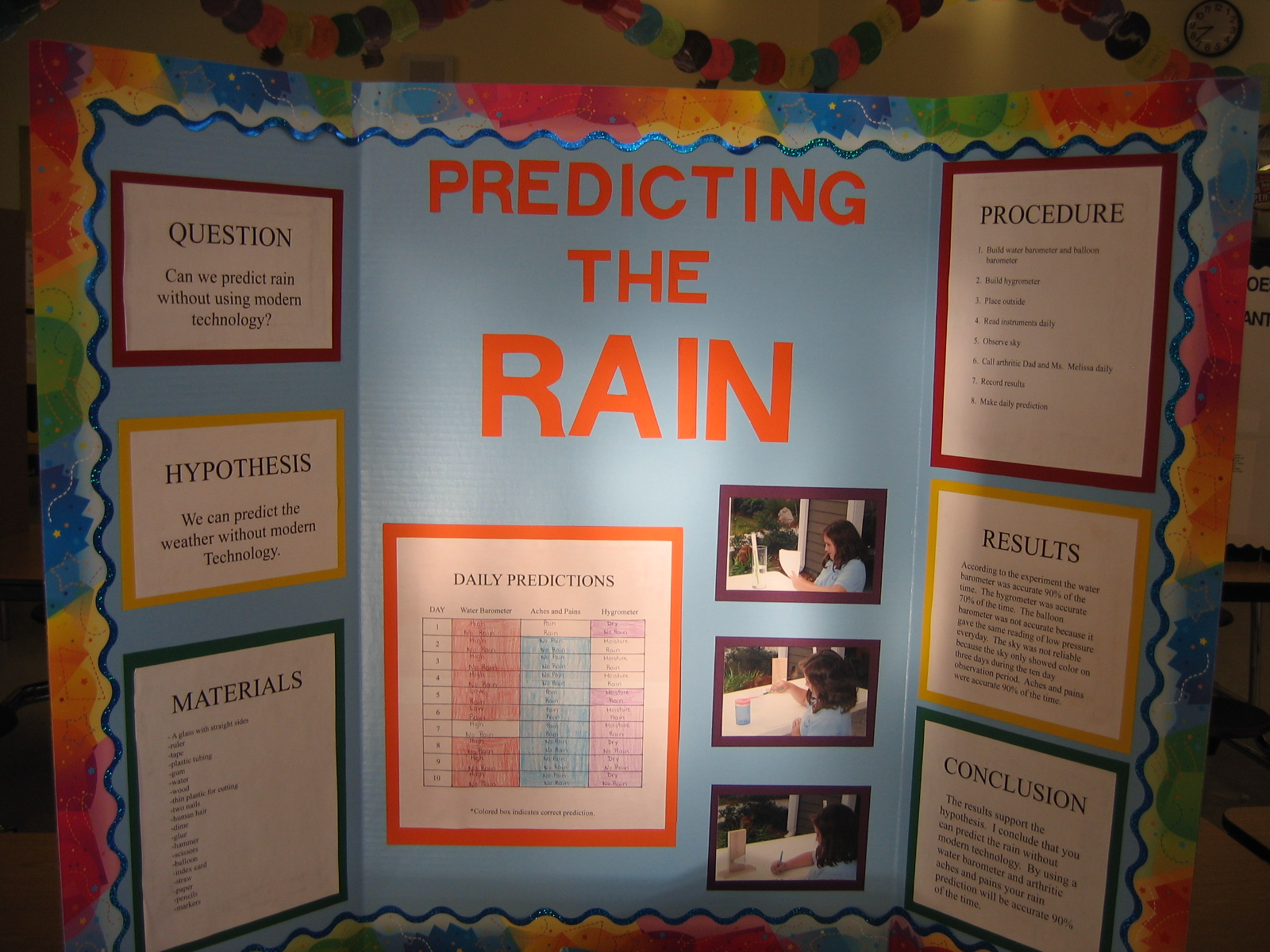 examples of science project boards can we predict the weather without using modern technology