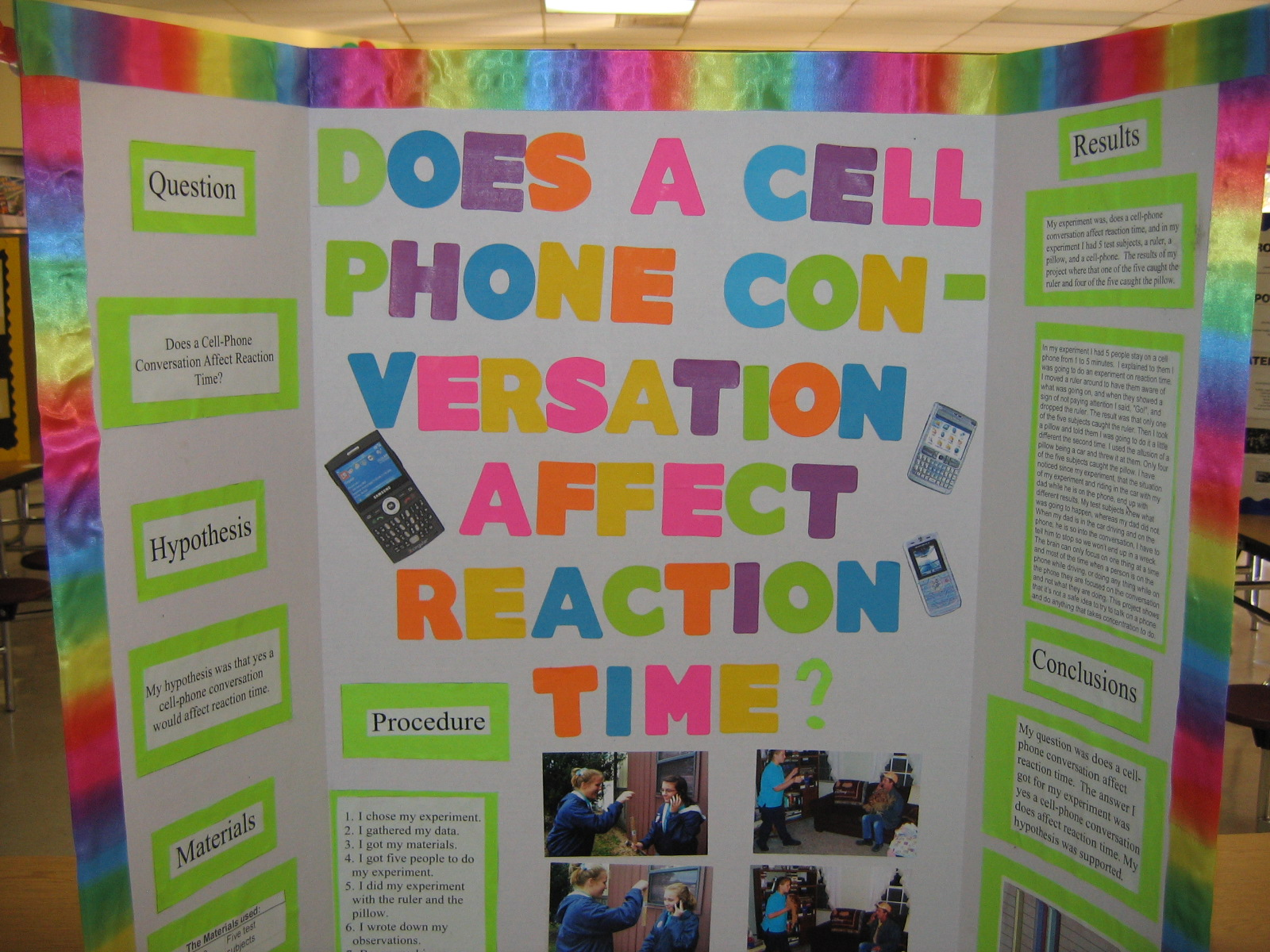 Does a cell phone conversation affect reaction time?