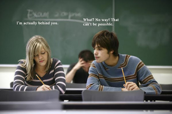 Expelled from college for cheating? : Cheating No!