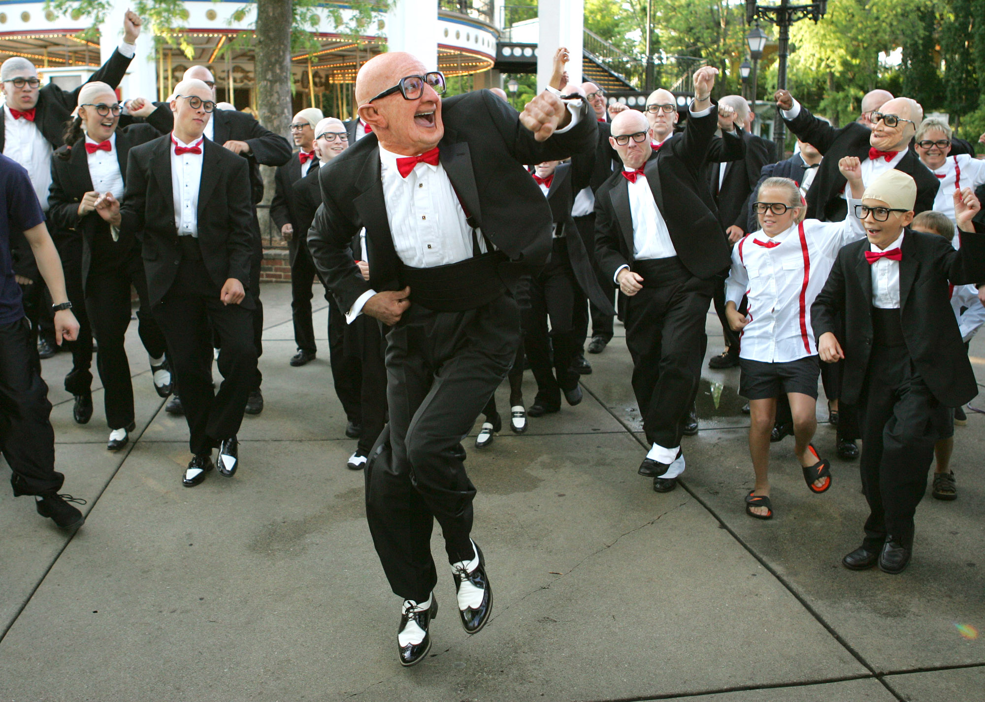 Six Flags Dancing Old Guy Mr Six